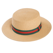 Load image into Gallery viewer, Adonis & Grace Luxury Ladies Straw Boater Hat - BrandClearance