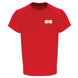 Adonis & Grace Mens Embossed Training T-Shirt Red
