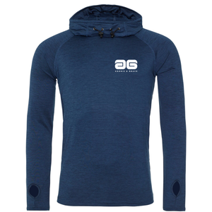 Adonis & Grace Mens Cool Cowl Neck Top Hoodie Navy