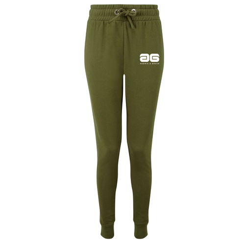 Adonis & Grace Fitted Slim Joggers Olive