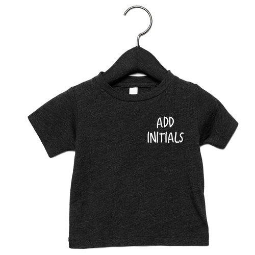 Adonis & Grace (Personalised) Baby Triblend Short Sleeve T-Shirt Charcoal