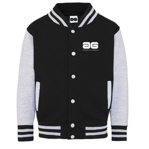 Adonis & Grace Kids Varsity College Jacket Black