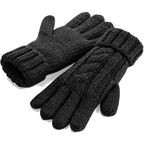 Adonis & Grace Cable Knit Winter Gloves Black