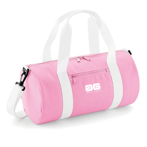 Adonis & Grace Mini Barrel Gym or Work Carry Bag Pink