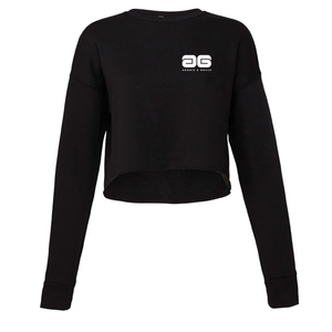 Adonis & Grace Cropped Crew Gym Fleece Black