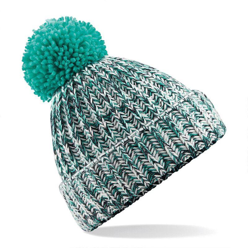 Adonis & Grace Twisted Pom Pom Winter Beanie Turquoise - BrandClearance