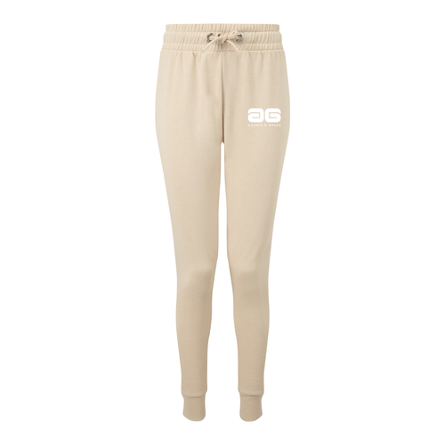 Adonis & Grace Fitted Slim Joggers Nude
