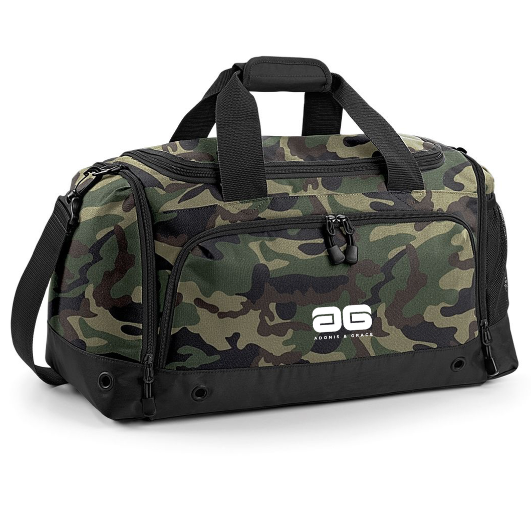 Adonis & Grace Gym Duffel Travel Holdall Bag Jungle Camo
