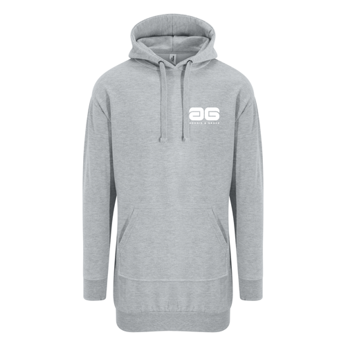 Adonis & Grace Relaxed Hoodie Dress Grey