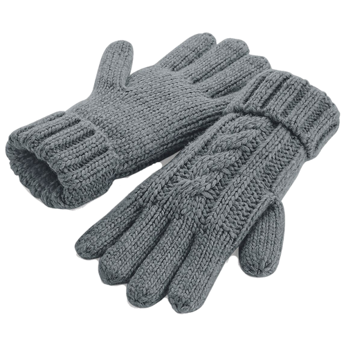 Adonis & Grace Cable Knit Winter Gloves Grey
