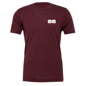 Adonis & Grace Unisex Crew Neck Fashion Summer T-Shirt Maroon