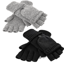 Load image into Gallery viewer, Adonis & Grace Fliptop Winter Gloves Black