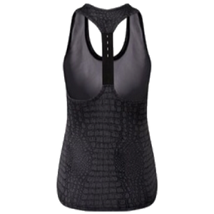 Adonis & Grace Animal Print Gym Vest Top Crocodile