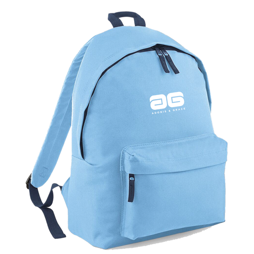 Adonis & Grace Mens Original Fashion Backpack Sky Blue