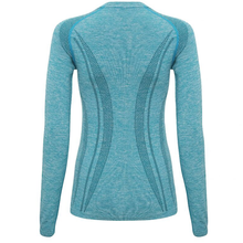 Load image into Gallery viewer, Adonis & Grace Womens Seamless 3D Long Sleeve Top Turquoise
