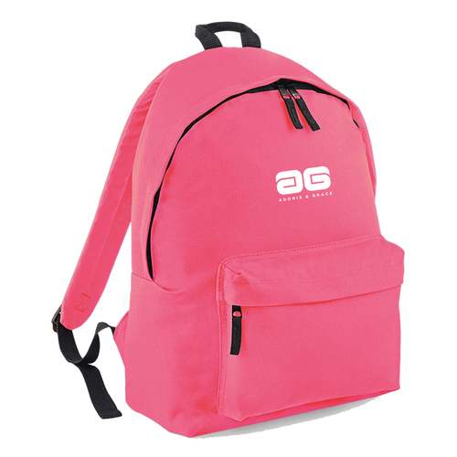 Adonis & Grace Ladies Original Fashion Backpack True Pink