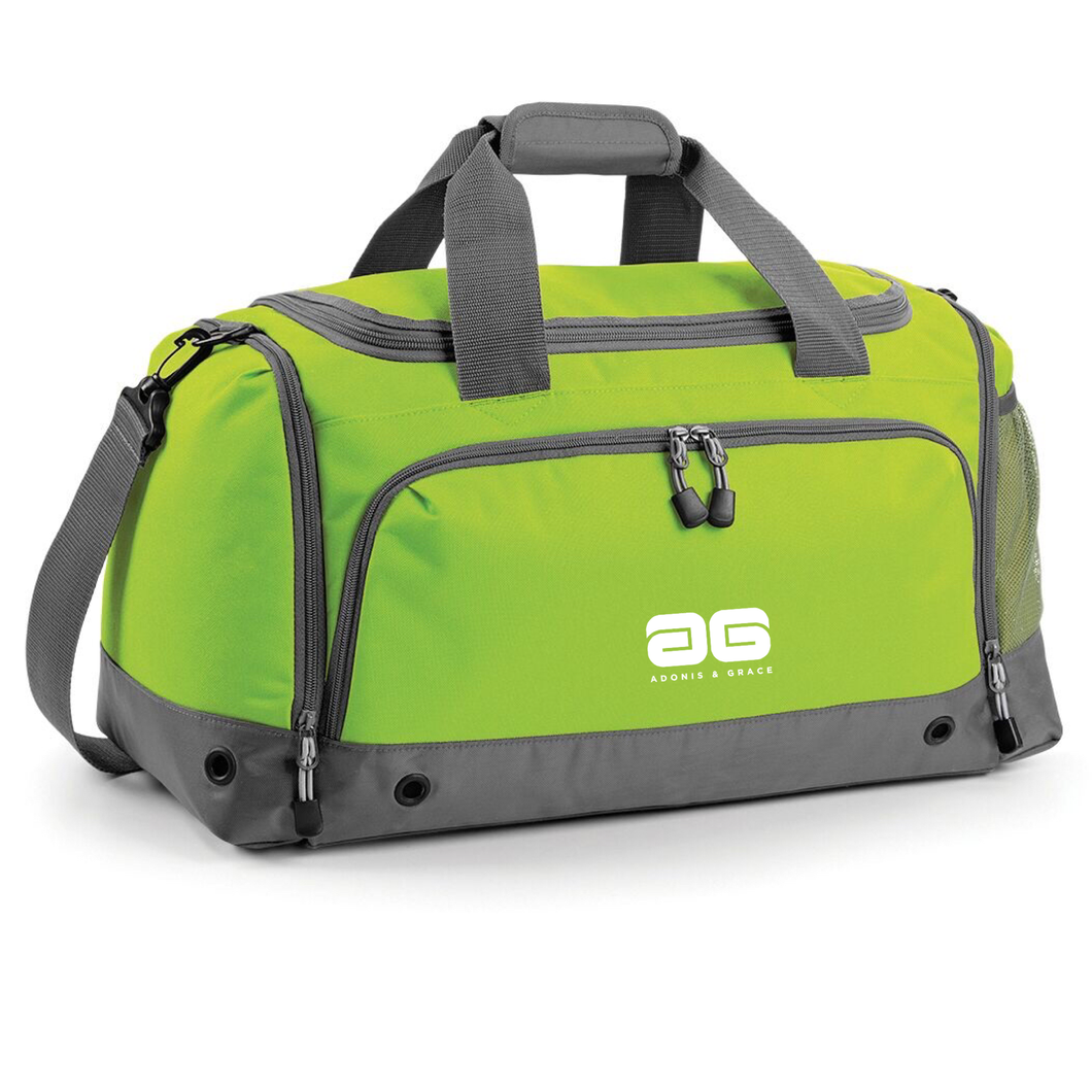 Adonis & Grace Gym Duffel Travel Holdall Bag Lime Green
