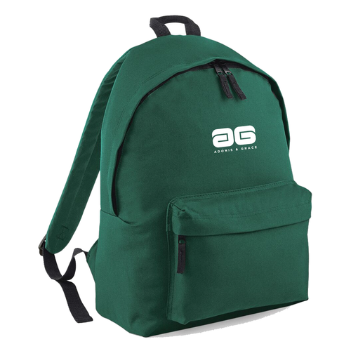 Adonis & Grace Mens Original Fashion Backpack Bottle Green
