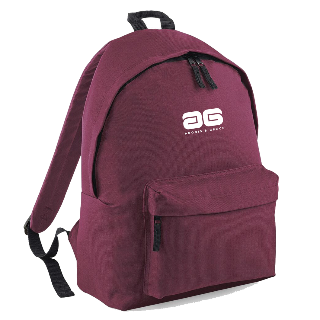 Adonis & Grace Mens Original Fashion Backpack Burgandy