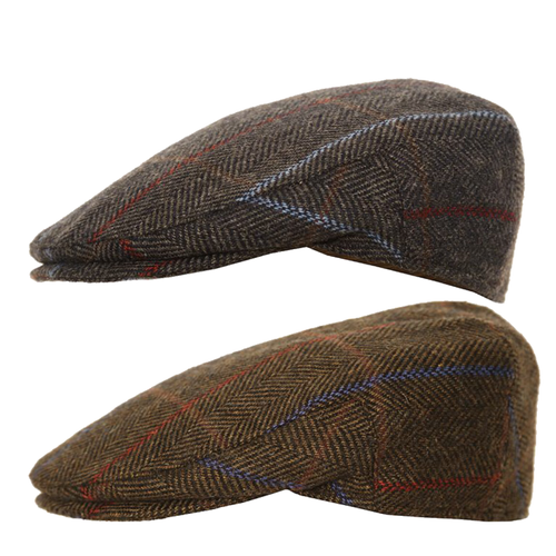 Adonis & Grace Luxury Tweed Mix Outdoor Flat Cap