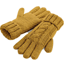 Load image into Gallery viewer, Adonis & Grace Cable Knit Winter Gloves Mustard