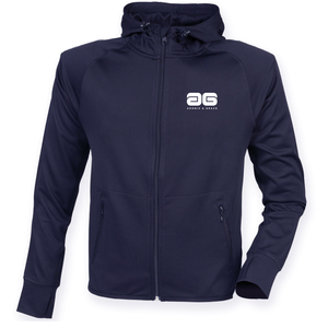 Adonis & Grace Reflective Gym Hoodie Navy