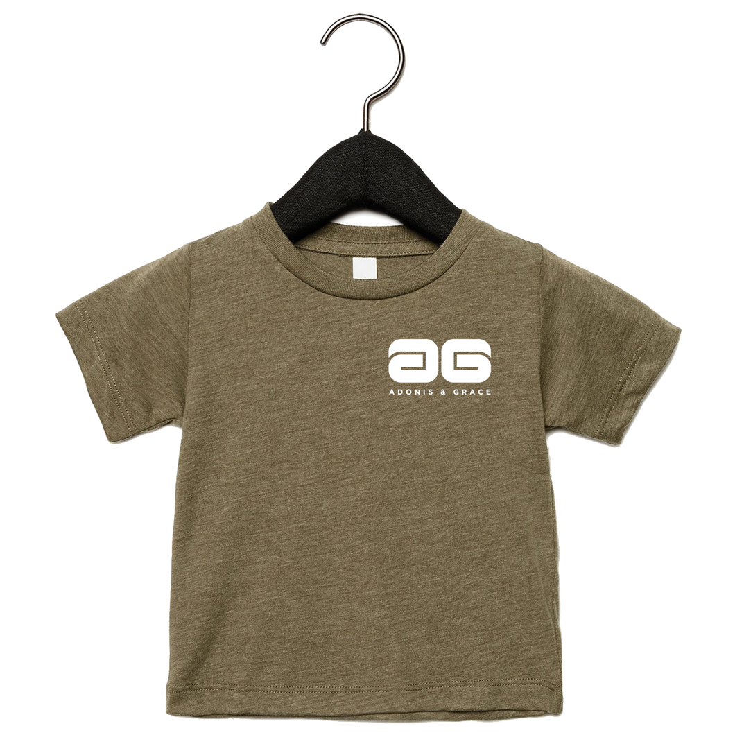 Adonis & Grace Baby Triblend Short Sleeve T-Shirt Olive