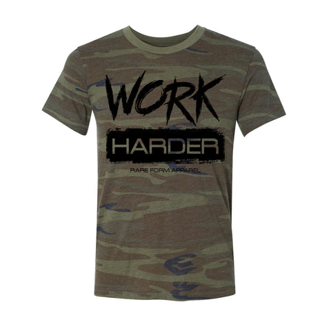 Work Harder Camo T Shirt