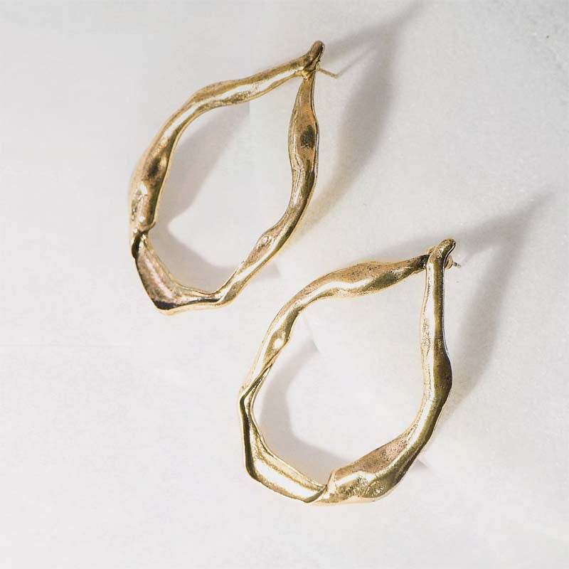 Alexis Organic Statement Earrings - Violent Tinsel