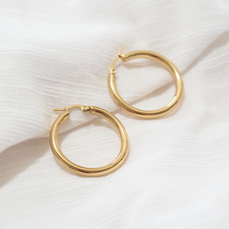Leah Gold Hoops - Violent Tinsel