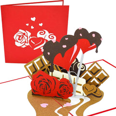 PopLife Roses and Chocolate Valentine's Day Pop Up Card