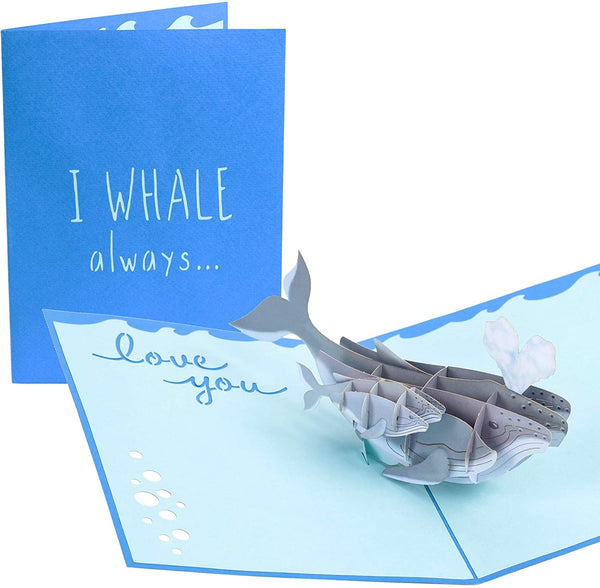 Whale lovepop poplife pop up mother's day card