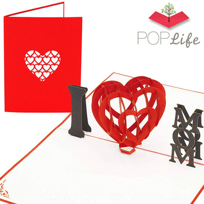 PopLife I Love MOM Heart Pop Up Card