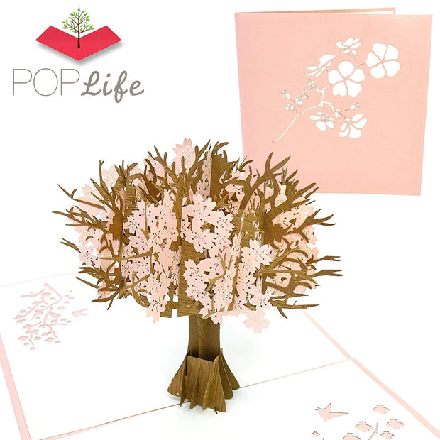 PopLife Pink Cherry Blossom Tree Pop Up Card