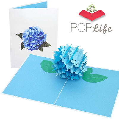 Blue Hydrangea Pop Up Card