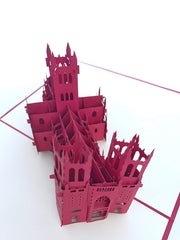 Washington DC National Cathedral Pop Up Card