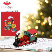 Santa's Train Pop Up Card