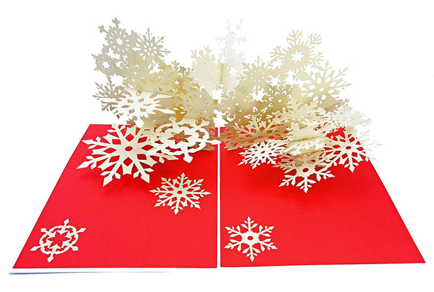 Winter Snowflake Flurry Pop Up Card