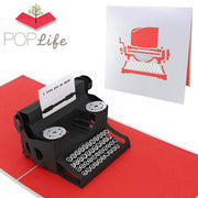 "Typewriter ""I Love You so much."" Message Pop Up Card"