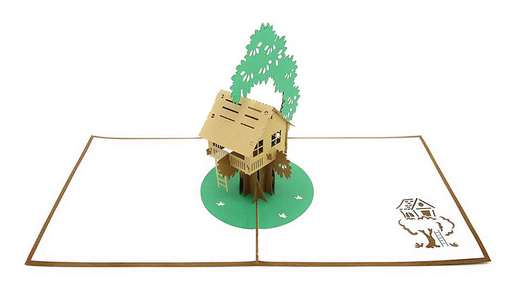 PopLife Pop-up card features cute tree fort