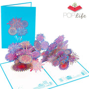 PopLife Fireworks 3D Pop Up New Years Card