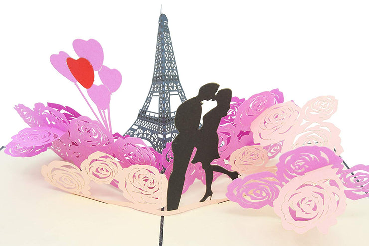 Romantic Eiffel Tower Love Pop Up Card