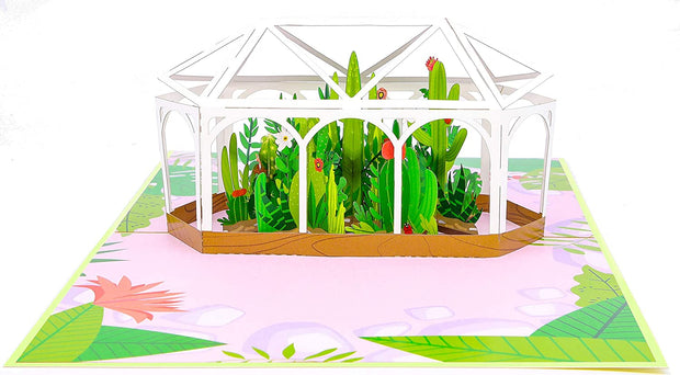 Greenhouse Garden Pop Up Card