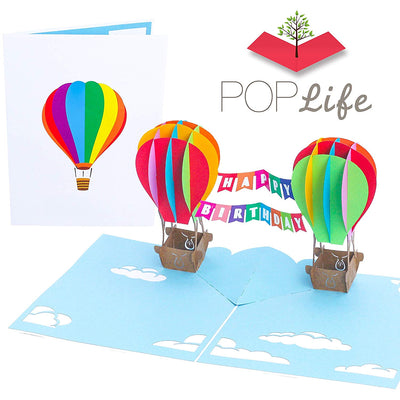 PopLife HAPPY BIRTHDAY Hot Air Balloons Pop Up Card