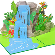 PopLife Tropical Waterfall 3D Pop Up Card for All Occasions