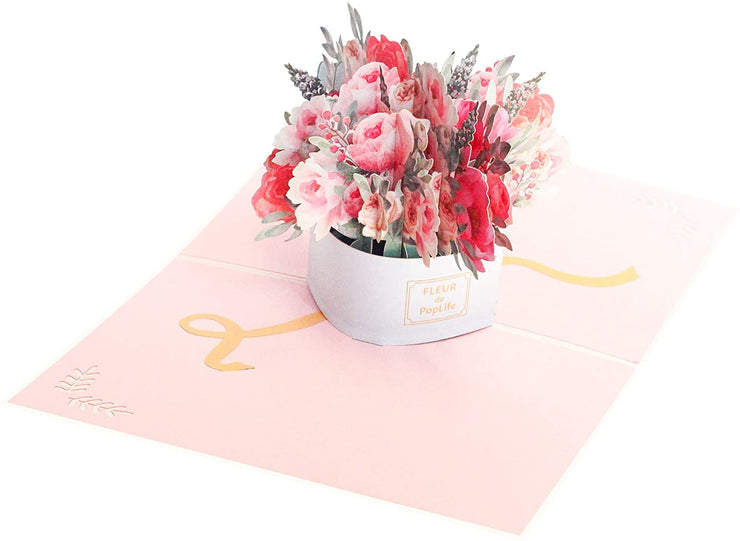 Luxe Flower Box Pop Up Card