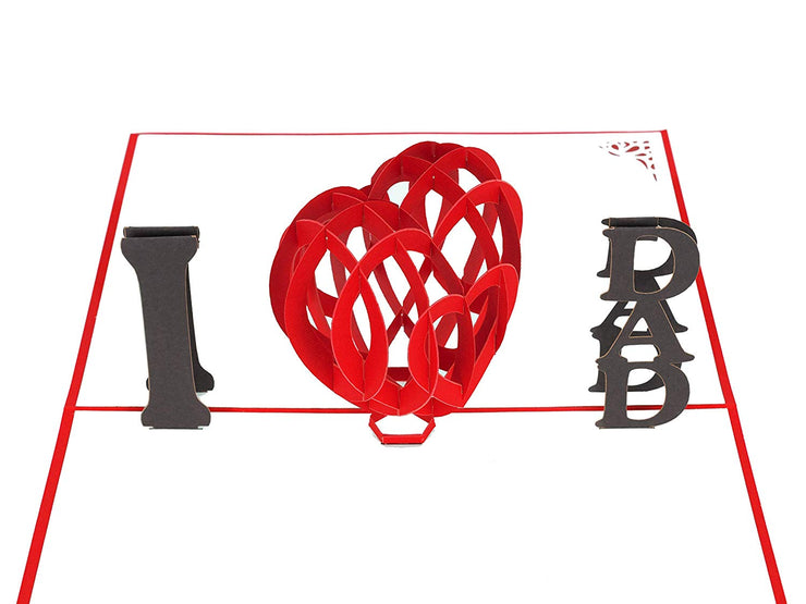 I Love DAD Heart Pop Up Card