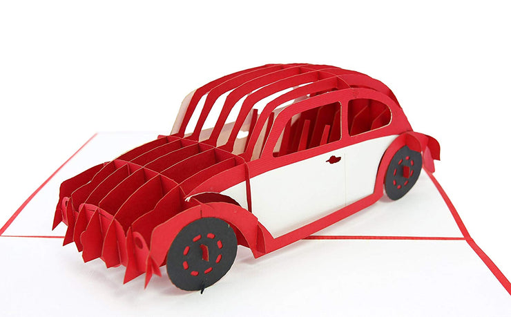 VW Bug Pop Up Card