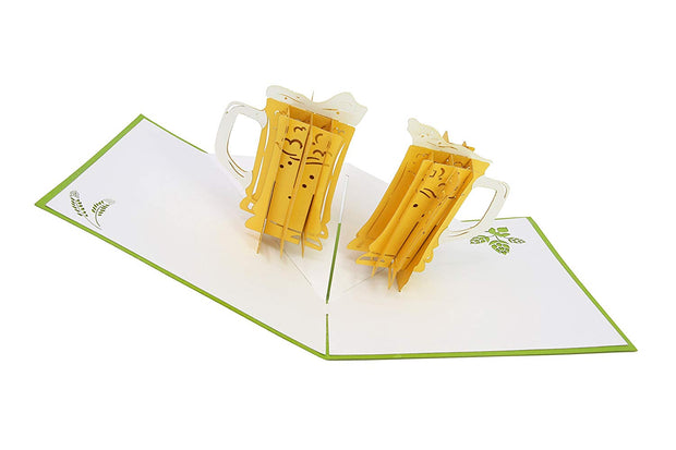 PopLife Pop-Up cards features cheers beer mug