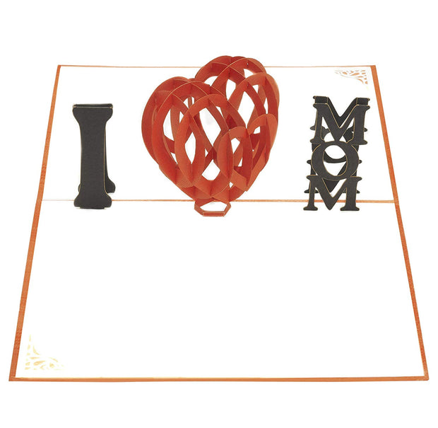 "PopLife Pop-Up card features ""I Heart Mom"""